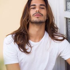 34 Impressive Long Hair And Beard Ideas For Handsome Man - Boys Long Hairstyles, Haircuts For Men, Cool Hairstyles, Men Hair Color, Blonde Guys, Beard Styles, Gorgeous Men, Hair Inspiration, Sexy Men