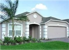 Stucco home with accent bands
