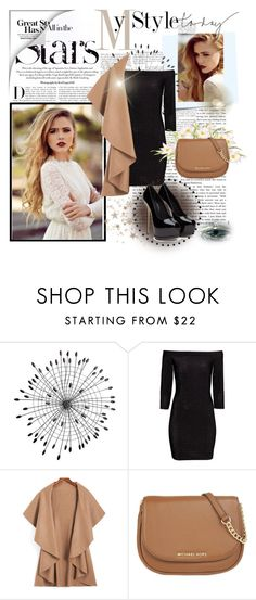 """Hello"" by azemina-azy ❤ liked on Polyvore featuring Karl Lagerfeld, Post-It, Cyan Design, H&M, MICHAEL Michael Kors, women's clothing, women, female, woman and misses"