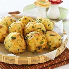 Tofu, Corn, and Chive Fritters