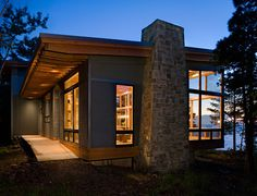 Coastal home. By Seattle architect Nils Finne. Lake Superior at Eagle Harbor, Michigan's Upper Peninsula.