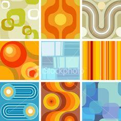 seamless retro wallpaper tiles Royalty Free Stock Vector Art Illustration