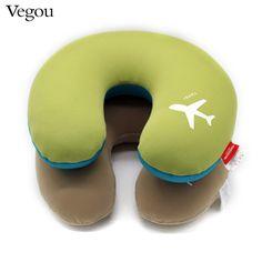 7.64$  Buy now - http://ali5e8.shopchina.info/go.php?t=32609671142 - Vegou Brand 2017 Microbeads U-Shape neck Pillow car Airplane travel pillows kissen  foam body pillow Cute Body/Neck/Sleep Pillow  #SHOPPING