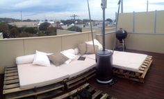 My rooftop palette couch :)