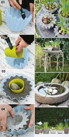 Planters from coffee filters