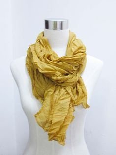 yellow woman scarf fashion spring summer wrinkle shawl to block sun large scarf 190*90cm beach scarf free shipping. $7.99