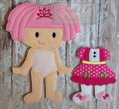 Lalaloopsy gioiello brilla bambola di feltro di NettiesNeedlesToo