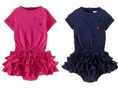 NWT Ralph Lauren Girls Jersey Dress Cotton Short Sleeve Ruffle Skirt  #RalphLauren #DressyEveryday