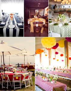 PRECIOUS Tablecloths - loving the red gingham