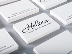 21 Examples of Minimal Business Card Design | CoalesceIdeas