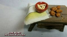 Mesita de madera para belen