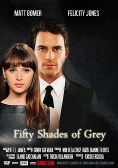 Fifty Shades of Grey movie poster starring Matt Bomer and Felicity Jones.
