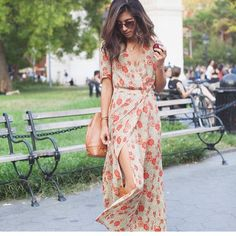 LOVE this floral maxi wrap dress! I like the colors and the style