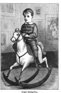 Лошадки-качалки: винтажные открытки