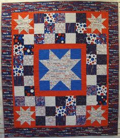 Finished Quilt  Quilts of Valor Thank You Military  ON by TheQC