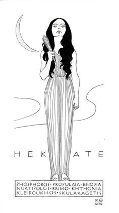 "franktic: Hekate, People that live on the fringes of society are sacred to Hekate as she lives outside the ""norm"" for women in ancient society. Like Artemis, Hekate lives independently of husband or child. Hecate Goddess, Goddess Art, Wiccan, Maiden Mother Crone, Beautiful Dark Art, Triple Goddess, Diane, Witch Art, Greek Gods"