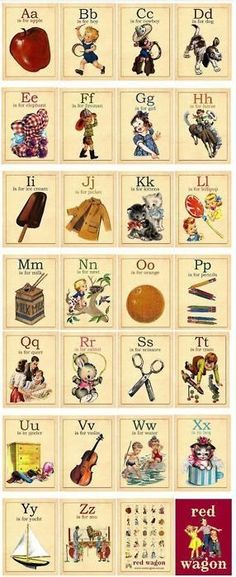 vintage alphabet learning tool