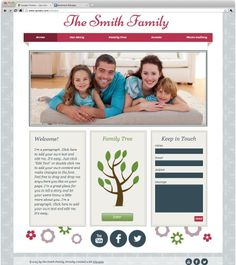 An easily customizable website template helps you take your family tree online.