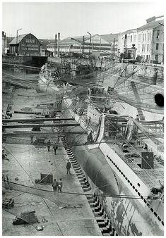 U-99 (Type VIIB) undergoing repairs.