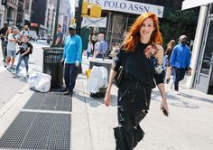Taylor Tomasi Hill in a Christopher Kane top