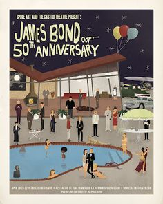 Bond 50th print from Castro Theatre.