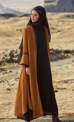 Love the details on this abaya - 2019 Hijab Clothing Islamic Fashion, Muslim Fashion, Modest Fashion, Fashion Dresses, Abaya Designs, Hijab Style Dress, Hijab Outfit, Abaya Style, Mode Kimono