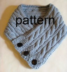 Cabled Neck Warmer Knitting Pattern PDF  Permission by 4aSong, $4.00