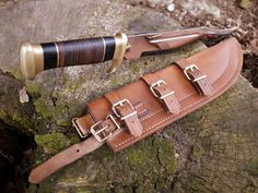 "Horizontal Leather Knife Sheaths | Custom leather sheath for a Down Under Knifes ""The Outback"""