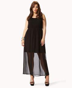 Forever 21 Plus Size chiffon Maxi dress