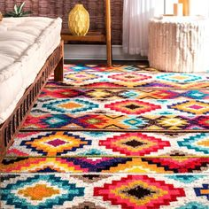 Mexican Kitchen Decor, Colorful Kitchen Decor, Mexican Home Decor, Mexican Rug, Mexican Colors, Dorm Room Rugs, Rugs In Living Room, Tulum Mexico, Area Rug Sizes