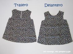 mis nancys, mis peques y yo, tutorial blusa sin mangas niña (patrón gratis), tela cortada delantero y trasero How To Make Clothes, Making Clothes, Pdf Sewing Patterns, Baby Dress, Dress Making, Girl Outfits, Tee Shirts, Two Piece Skirt Set, Rompers
