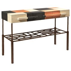 Terracotta Console by Mattia Bonetti | See more antique and modern Console Tables at http://www.1stdibs.com/furniture/tables/console-tables