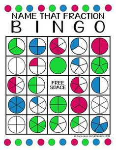 BINGO: NAME THAT FRACTION! - TeachersPayTeachers.com