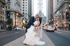 Philadelphia City Hall Wedding Portrait