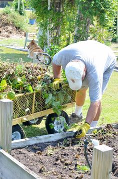 cleaning up the garden | Cottage at the Crossroads