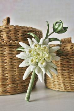 Fluweel bloemen Edelweiss sieraden edelweiss door ArtFlowerBoutique