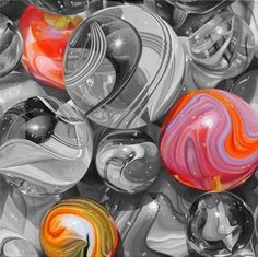 Marbles Color Splash by Peace