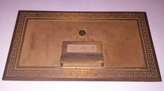 Vintage Brass Post Office Mail Box Door Large 11 X 6