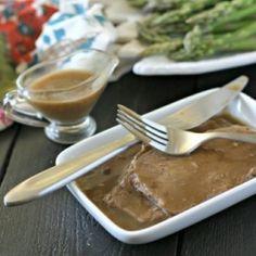 Slow Cooker Roast Beef   Gravy GF HealthyAperture.com
