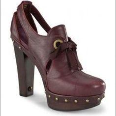 UGG Shoes - UGG fur lined high heel clogs