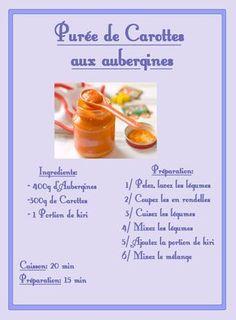 Purée de Carottes aux Aubergines & kiri