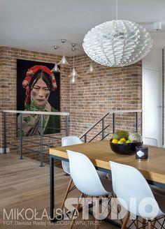 KORYTARZ W STYLU LOFT Loft, Home Interior Design, Ceiling Lights, Studio, Safari, Design Ideas, House, Home Decor, Lounges
