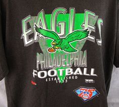 Philadelphia Eagles Vintage XL T-Shirt Extra Large NFL 75th Trench 1994 Football #Trench #GraphicTee