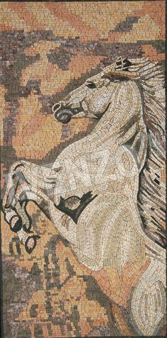 Mosaic AK026 rearing horse