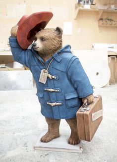 Paddington Bear sculpture designed by Michael Bond, part of the Paddington Trail in promotion of the live-action film due in cinemas in late November, London, England, United Kingdom, 2014, photograph by Adam Sorenson.