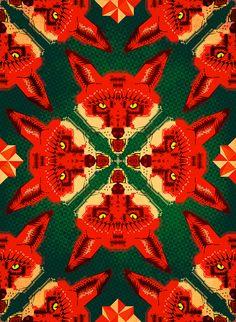 Fox Cross geometric pattern 2012