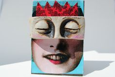 aceo mixed media atc artist trading card by BurningHeartArt, $11.00