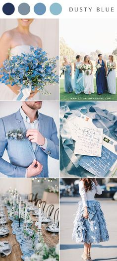10 Dusty Blue Wedding Color Combinations for 2020 Lavender Wedding Colors, Yellow Wedding Colors, Unique Wedding Colors, Popular Wedding Colors, Beige Wedding, Dusty Rose Wedding, Dusty Blue Weddings, Summer Wedding Colors, Wedding Bouquet