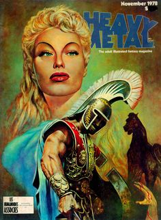 Images: A Fantastic Collection Of Stunning Sci-Fi And Fantasy Based Heavy Metal Comic Book Covers From The Late 1970's featuring Nicollet, Moebius, Bernie Wrightson, George Proctor, Tom Barber, Val Mayerik, Nino, Jim Burns, Robert Morello, Joe Jusko, Caza Caldwell, Charles Vess, Ron Walotsky, Doug Beekman, Marcus Boas, and Peter A. Jones. spoiler free comic art from the movie sleuth.