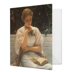 In the Orangery by Charles Edward Perugini 3 Ring Binder | Zazzle.com Teacher Hair, Mask Shop, Binder Design, Ring Binder, Chinese New Year, Dog Design, Mardi Gras, Customized Gifts, Valentine Gifts